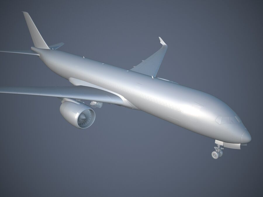 Avião a jato genérico royalty-free 3d model - Preview no. 14