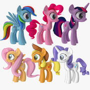 My Little Ponie Main Characters 3d model