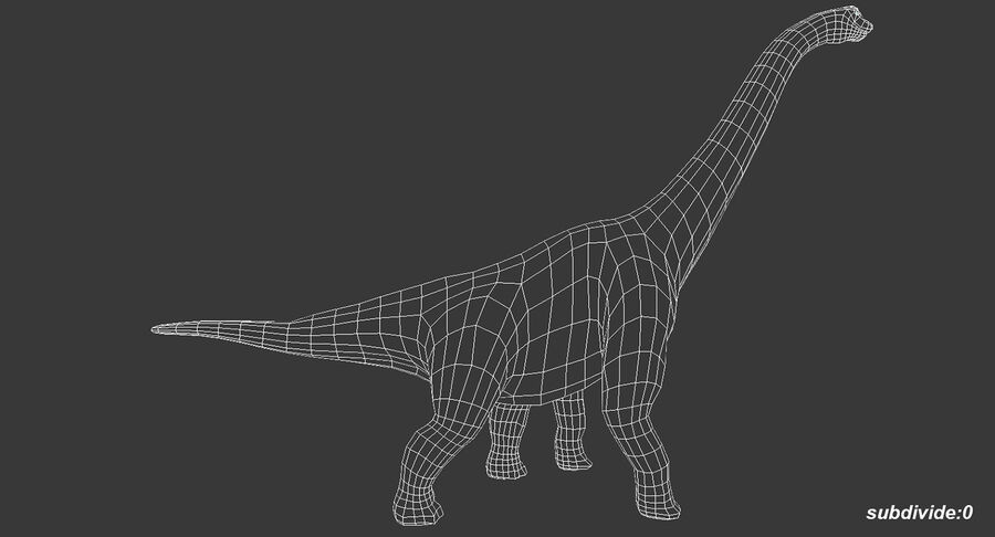 Brachiosaurus royalty-free 3d model - Preview no. 11