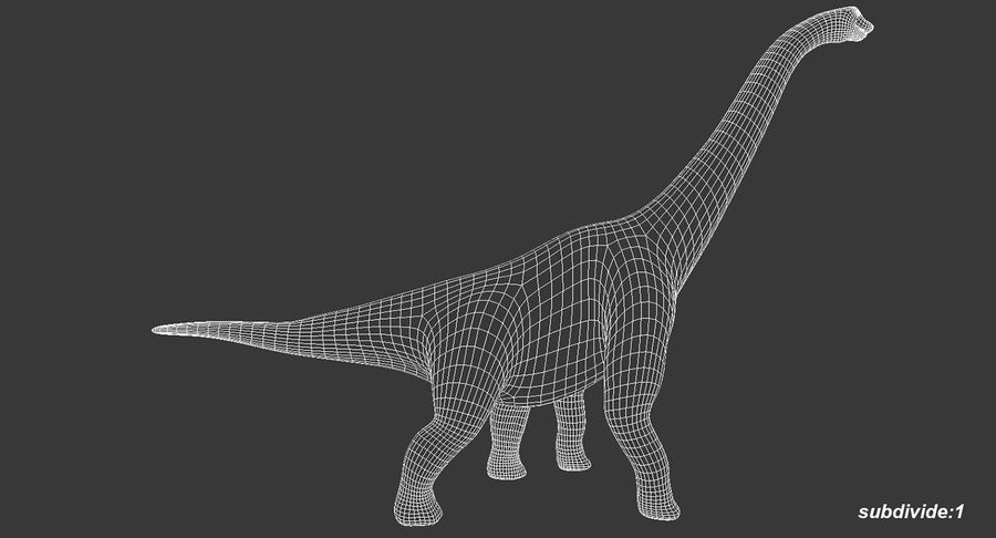 Brachiosaurus royalty-free 3d model - Preview no. 12