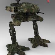 armia robotów Walkera 3d model