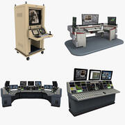 Control Desks Collection 3d model