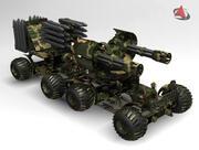 gun car 3d model