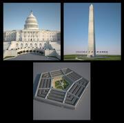 3 Washington Structures 3d model