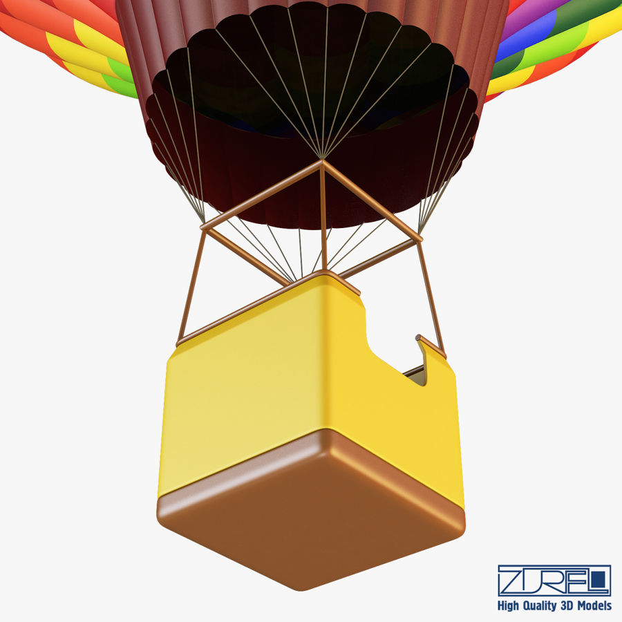 Hot Air Balloon v 1 royalty-free 3d model - Preview no. 7