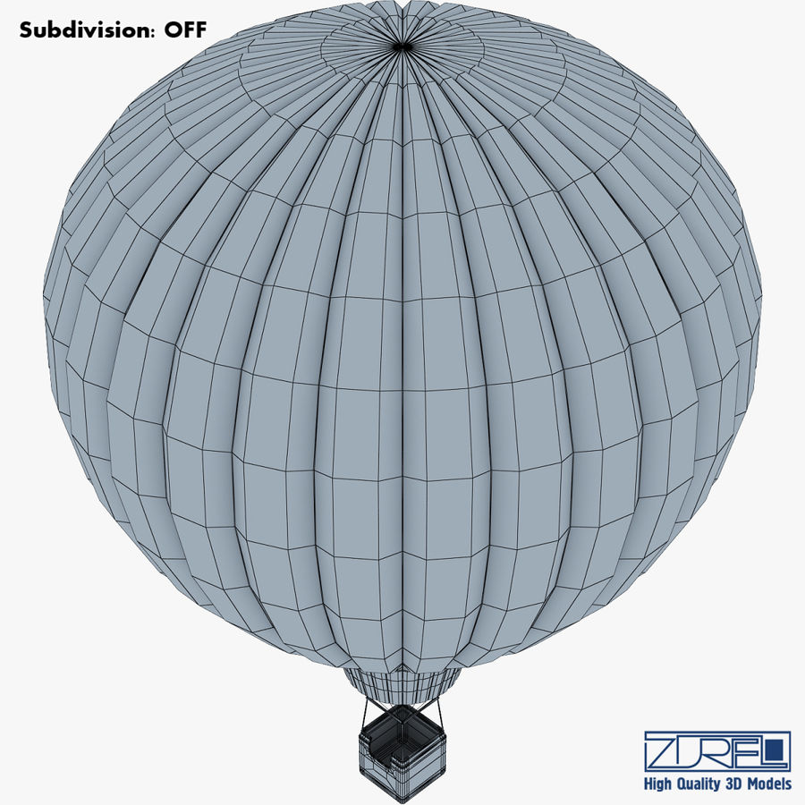 Hot Air Balloon v 1 royalty-free 3d model - Preview no. 14
