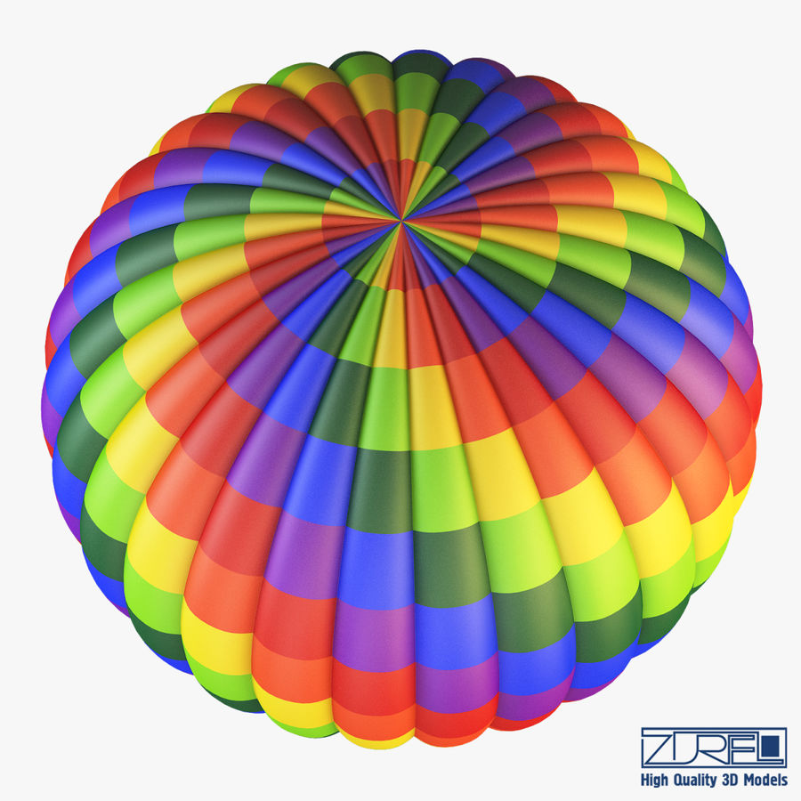 Hot Air Balloon v 1 royalty-free 3d model - Preview no. 4