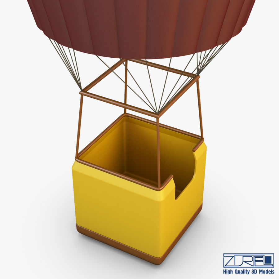 Hot Air Balloon v 1 royalty-free 3d model - Preview no. 9