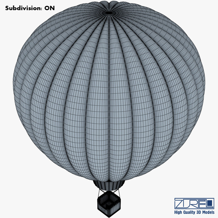 Hot Air Balloon v 1 royalty-free 3d model - Preview no. 13