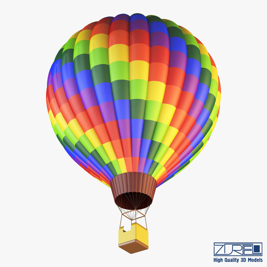 Hot Air Balloon v 1 royalty-free 3d model - Preview no. 6