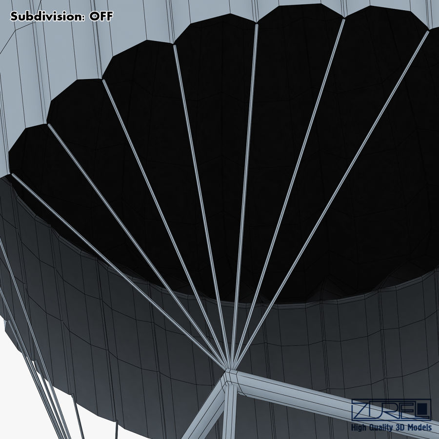 Hot Air Balloon v 1 royalty-free 3d model - Preview no. 26