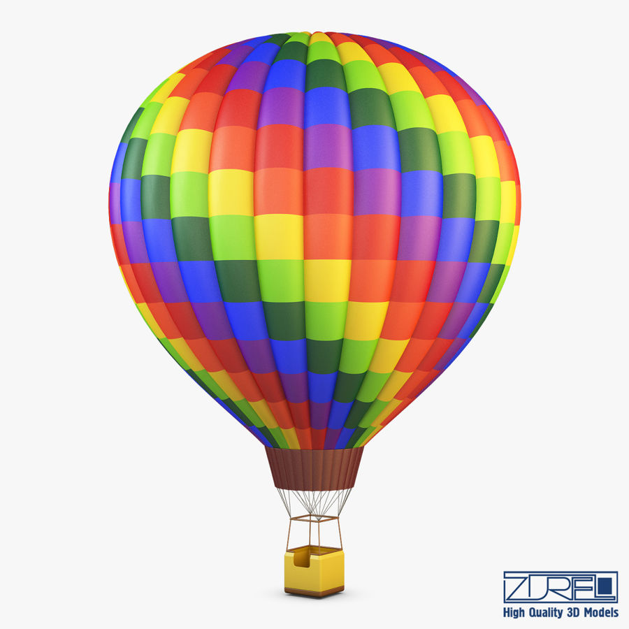 Hot Air Balloon v 1 royalty-free 3d model - Preview no. 1