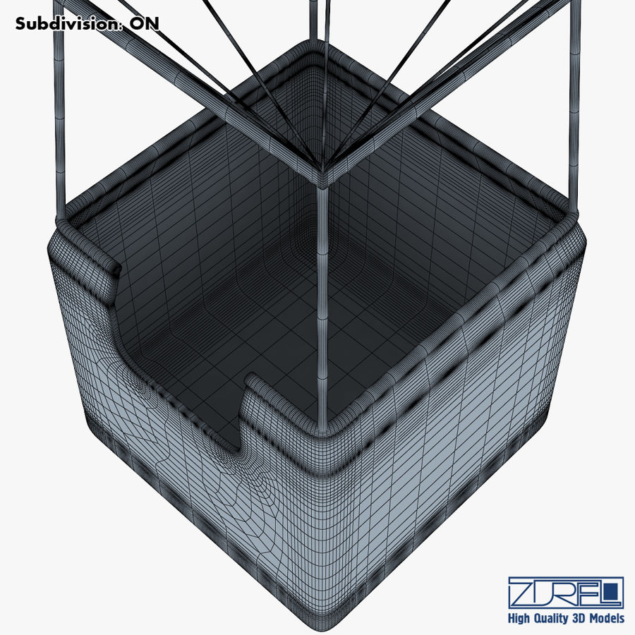 Hot Air Balloon v 1 royalty-free 3d model - Preview no. 21
