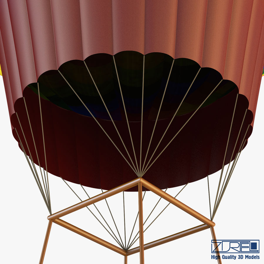 Hot Air Balloon v 1 royalty-free 3d model - Preview no. 8