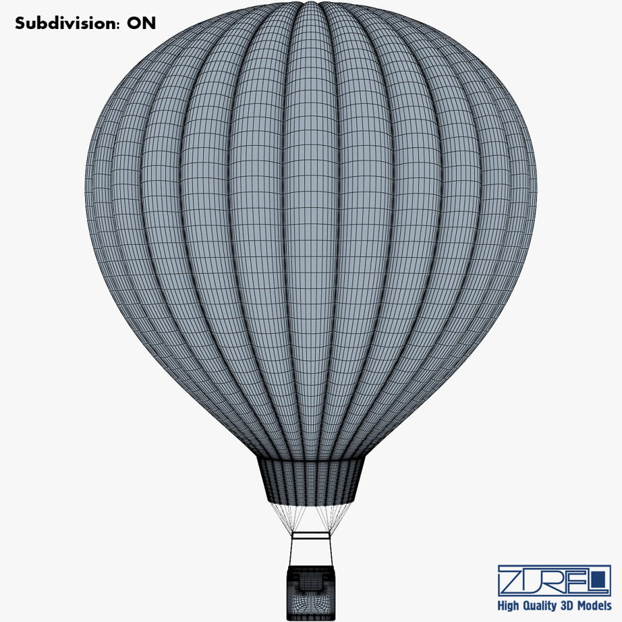 Hot Air Balloon v 1 royalty-free 3d model - Preview no. 11