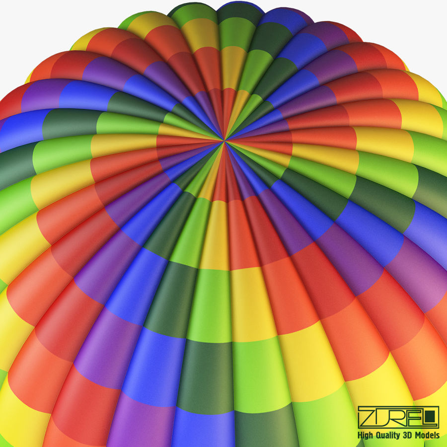 Hot Air Balloon v 1 royalty-free 3d model - Preview no. 5