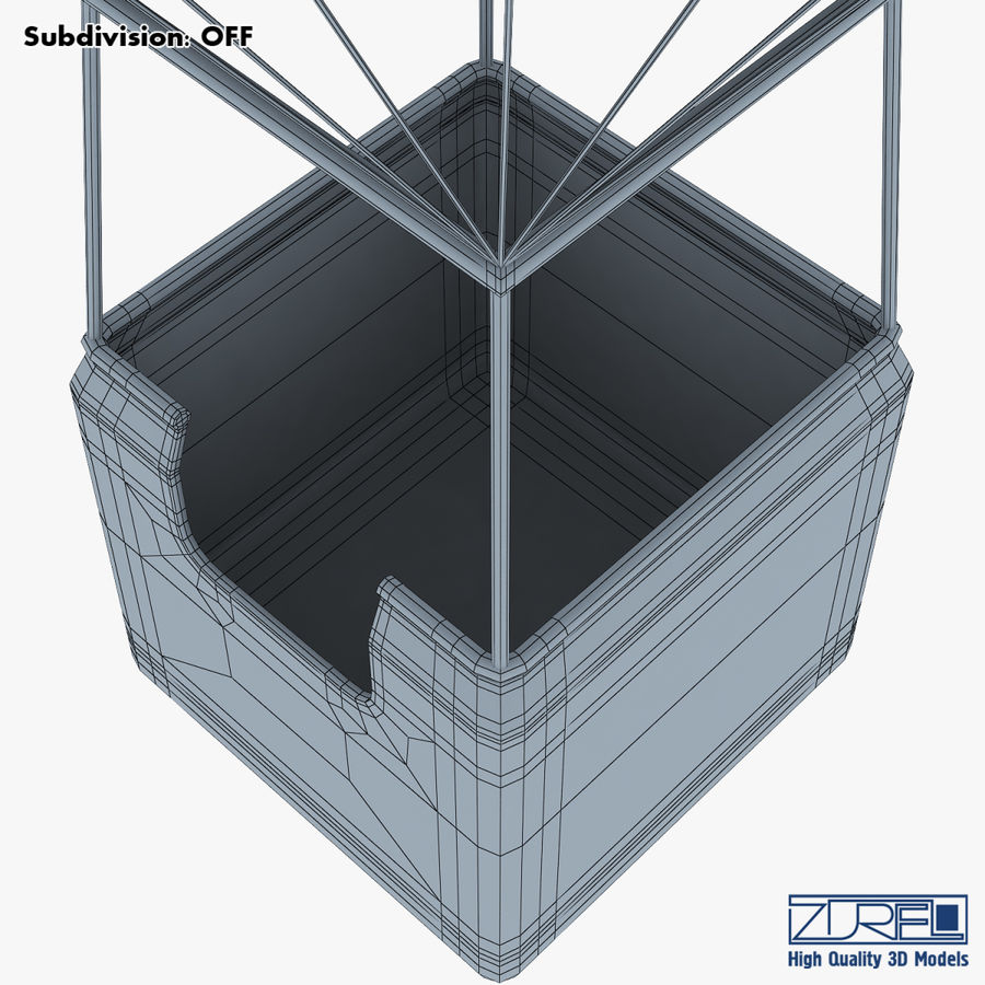 Hot Air Balloon v 1 royalty-free 3d model - Preview no. 22