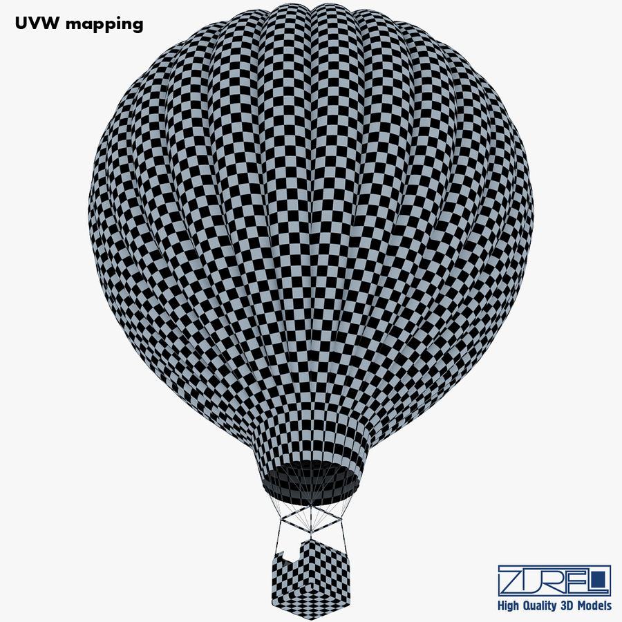 Hete luchtballon v 1 royalty-free 3d model - Preview no. 29