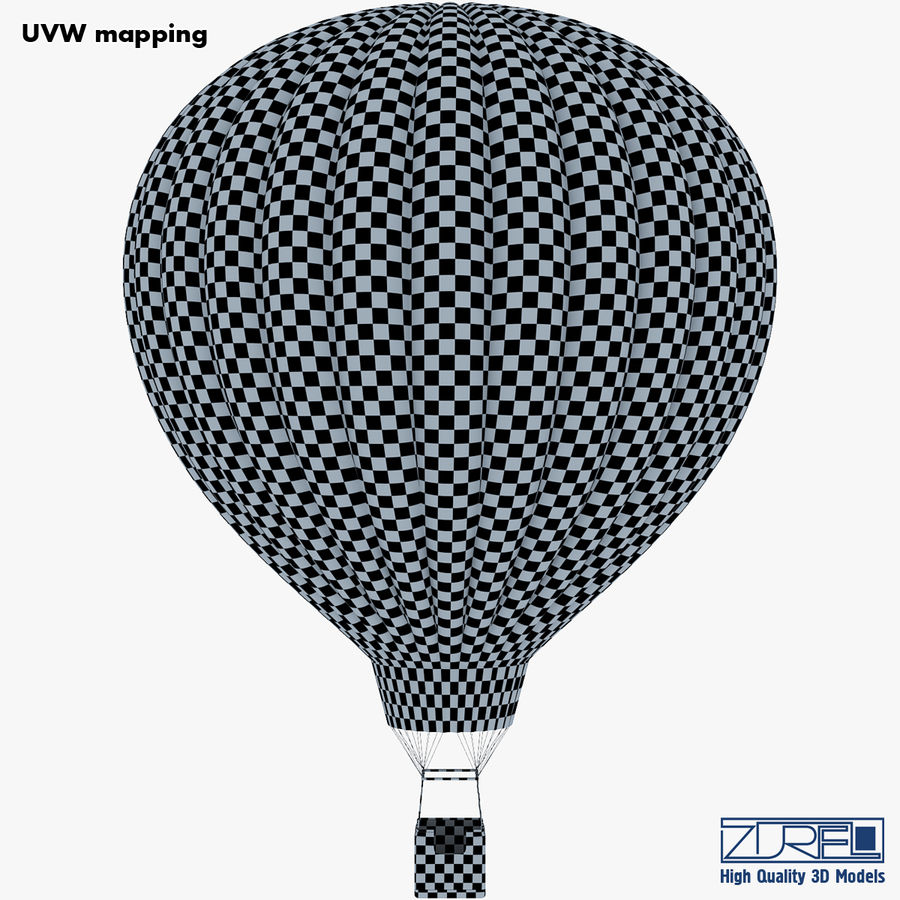 Hot Air Balloon v 1 royalty-free 3d model - Preview no. 27