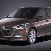 Hyundai i20 2017 VRAY 3d model