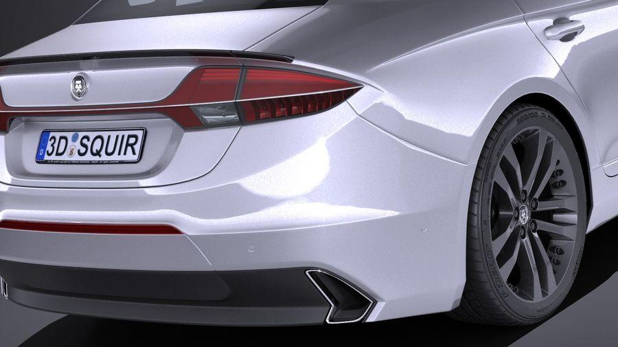 Generic Sedan 2017 royalty-free 3d model - Preview no. 4