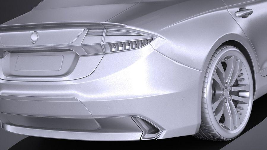 Generic Sedan 2017 royalty-free 3d model - Preview no. 11