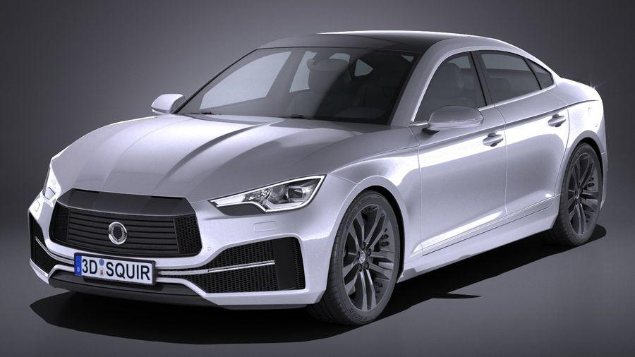 Generic Sedan 2017 royalty-free 3d model - Preview no. 1