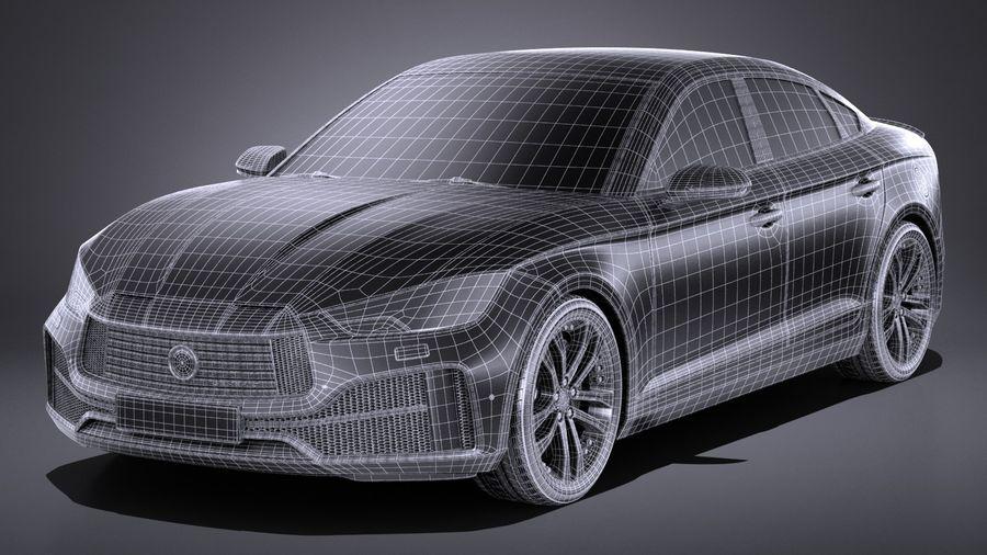 Generic Sedan 2017 royalty-free 3d model - Preview no. 15