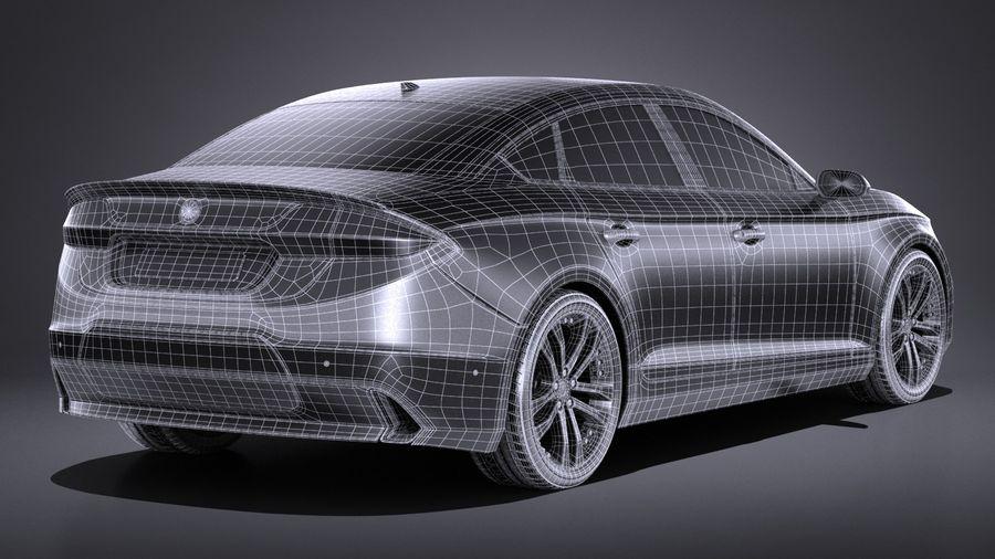 Generic Sedan 2017 royalty-free 3d model - Preview no. 16