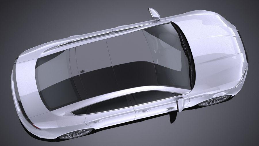 Generic Sedan 2017 royalty-free 3d model - Preview no. 8