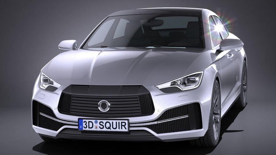 Generic Sedan 2017 royalty-free 3d model - Preview no. 2