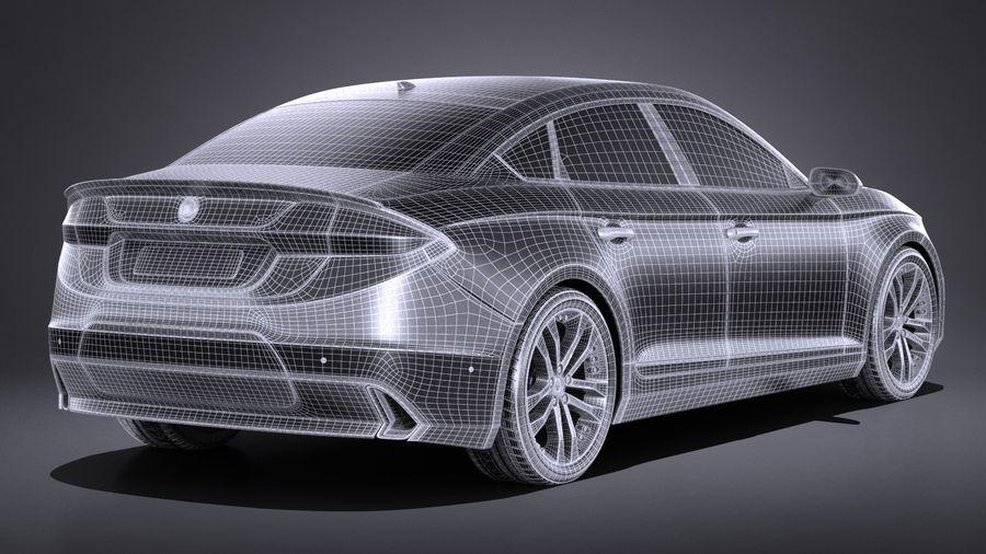 Generic Sedan 2017 royalty-free 3d model - Preview no. 14