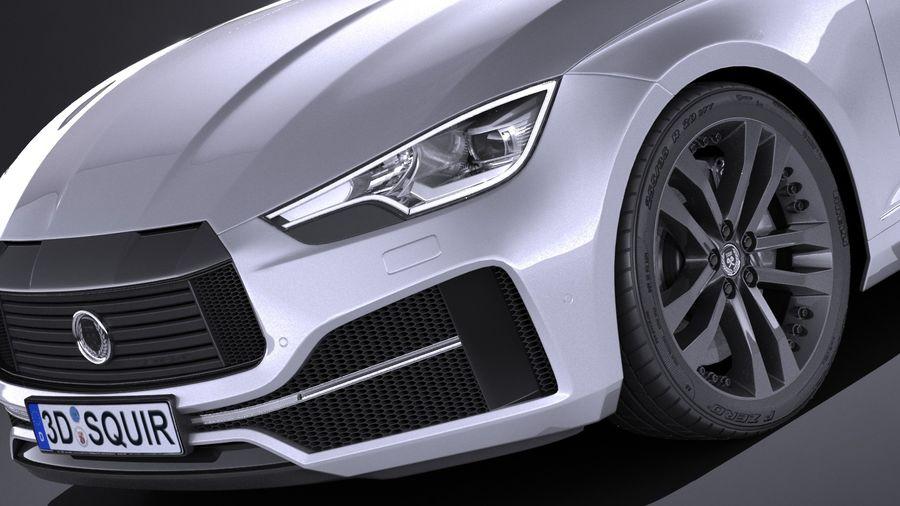 Generic Sedan 2017 royalty-free 3d model - Preview no. 3