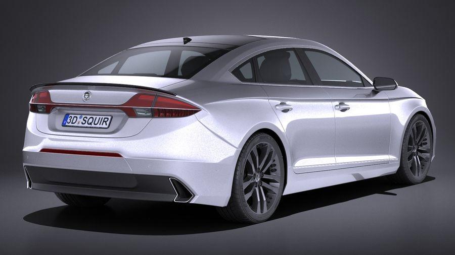 Generic Sedan 2017 royalty-free 3d model - Preview no. 6