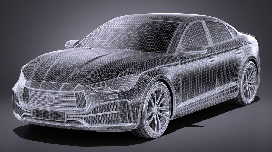Generic Sedan 2017 royalty-free 3d model - Preview no. 13