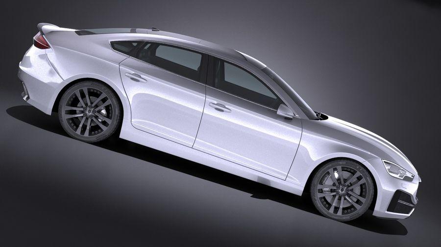 Generic Sedan 2017 royalty-free 3d model - Preview no. 7
