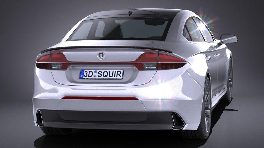 Generic Sedan 2017 royalty-free 3d model - Preview no. 5
