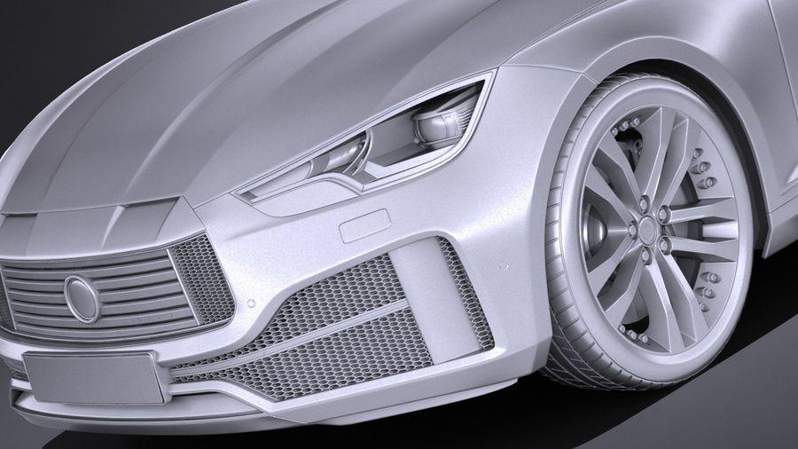 Generic Sedan 2017 royalty-free 3d model - Preview no. 10