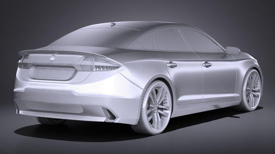 Generic Sedan 2017 royalty-free 3d model - Preview no. 12