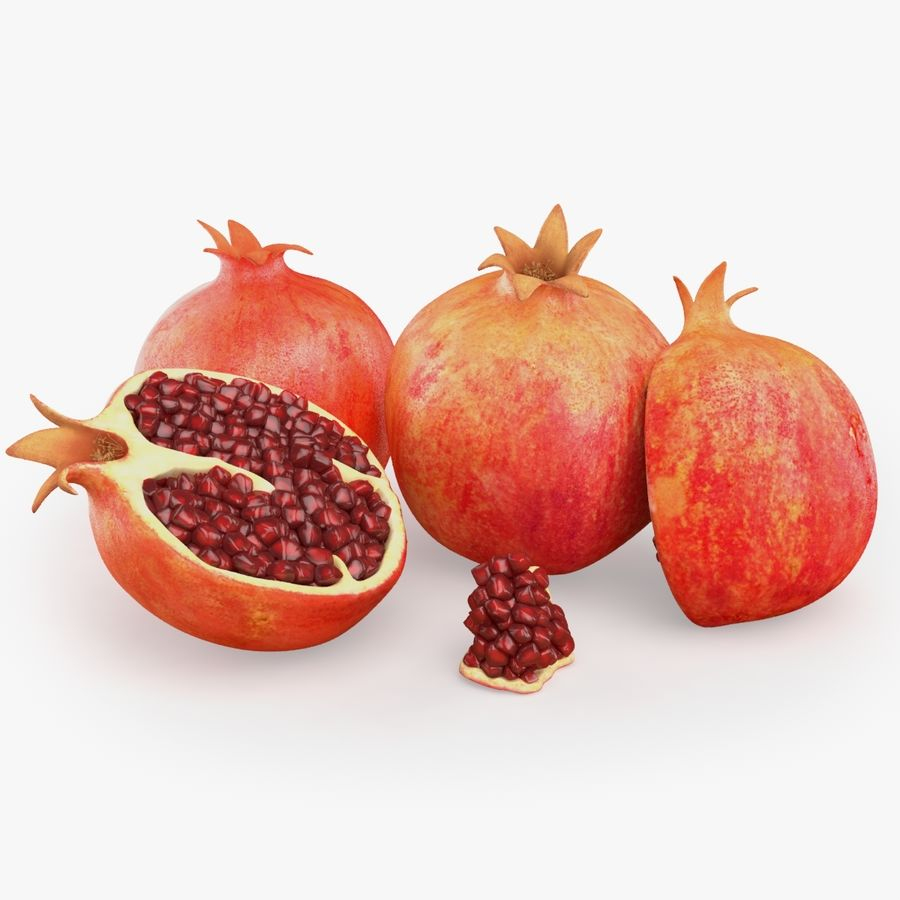 Realistic Pomegranate royalty-free 3d model - Preview no. 1