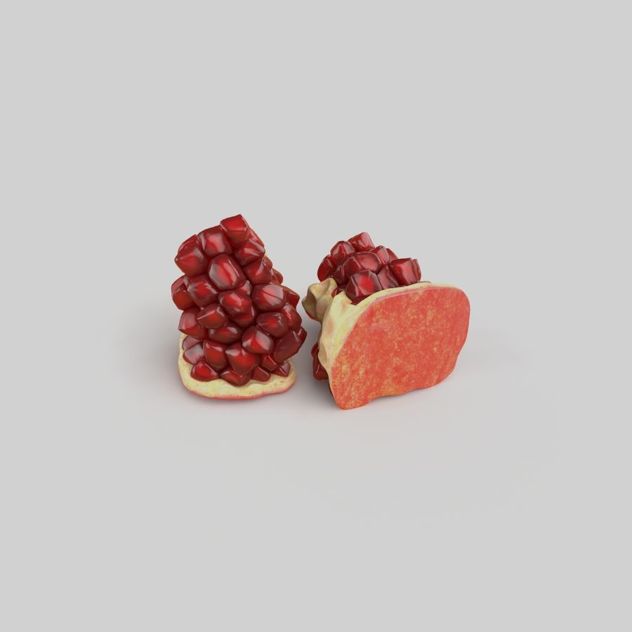 Realistic Pomegranate royalty-free 3d model - Preview no. 5
