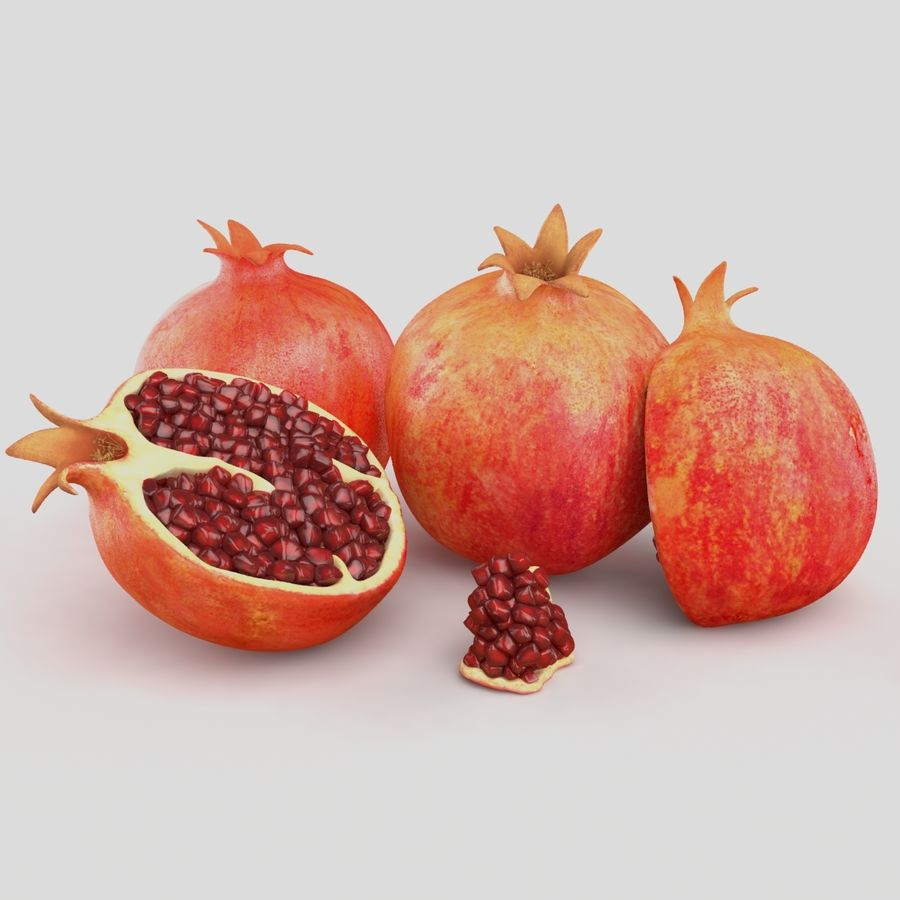 Realistic Pomegranate royalty-free 3d model - Preview no. 2