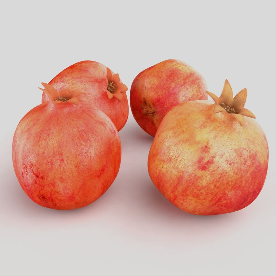 Realistic Pomegranate royalty-free 3d model - Preview no. 4