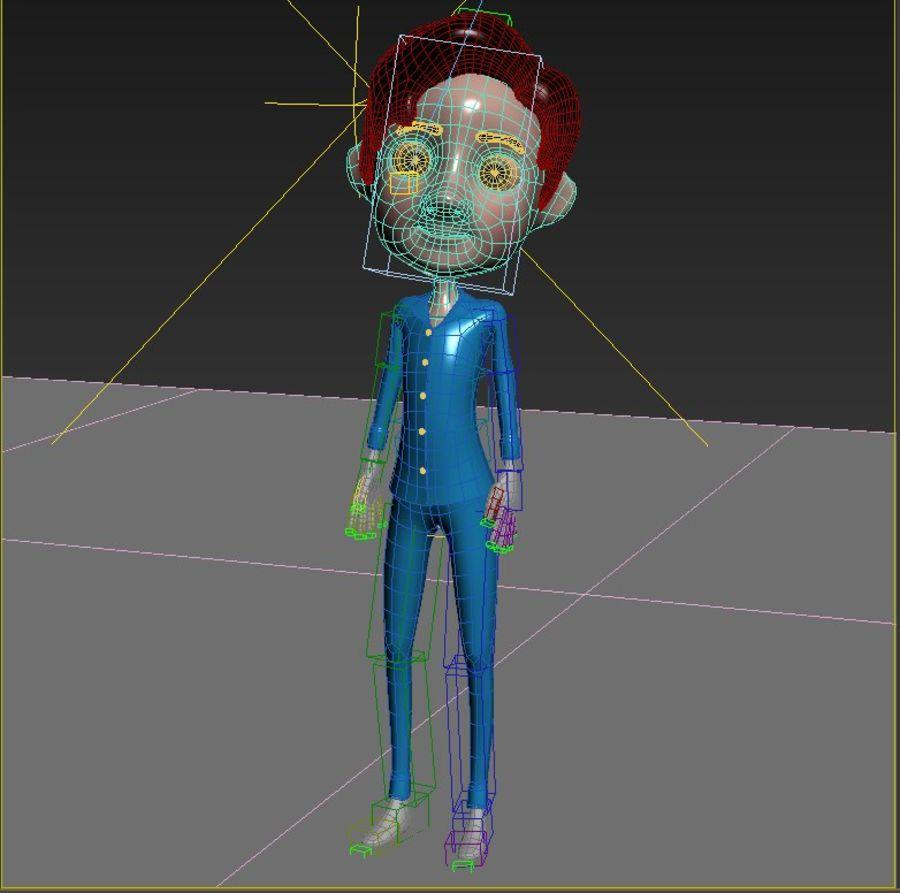 Мультфильм мальчик royalty-free 3d model - Preview no. 5