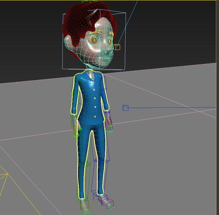 Мультфильм мальчик royalty-free 3d model - Preview no. 6