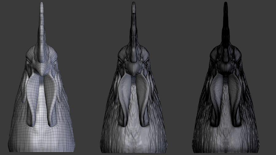 Голова петуха royalty-free 3d model - Preview no. 4