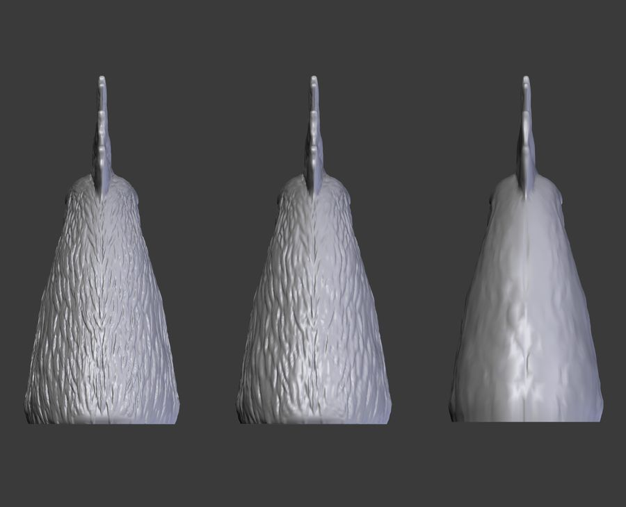 Голова петуха royalty-free 3d model - Preview no. 14