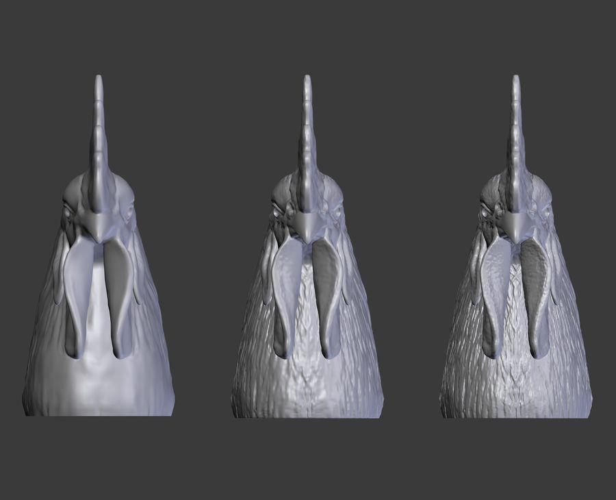 Голова петуха royalty-free 3d model - Preview no. 13