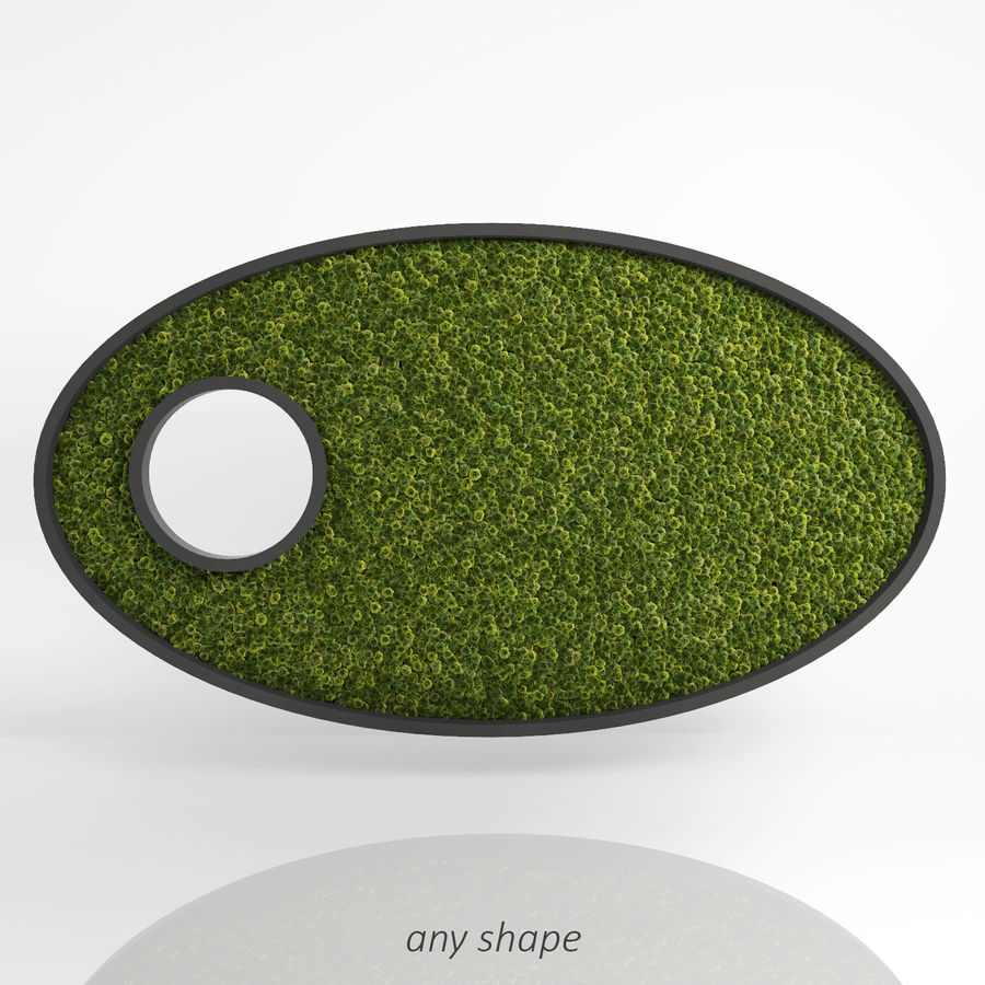 Moss Wall (Scatterable) royalty-free 3d model - Preview no. 5