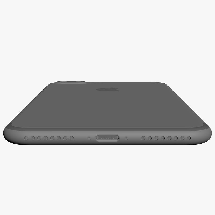 Apple iPhone 7 Plus + iPhone 7 Jet Black and Black royalty-free 3d model - Preview no. 47